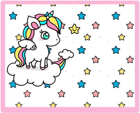 alfajores-candy bar unicornio en nube kit imprimible