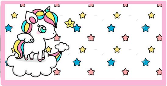 rhodesia candy bar unicornio en nube kit imprimible