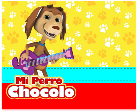 alfajores-candy bar mi perro chocolo kit imprimible