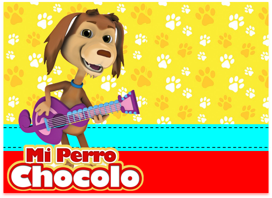 opera-candy bar mi perro chocolo kit imprimible