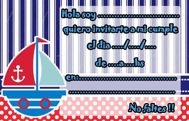 invitacion-tarjetita- candy bar marinerito kit imprimible