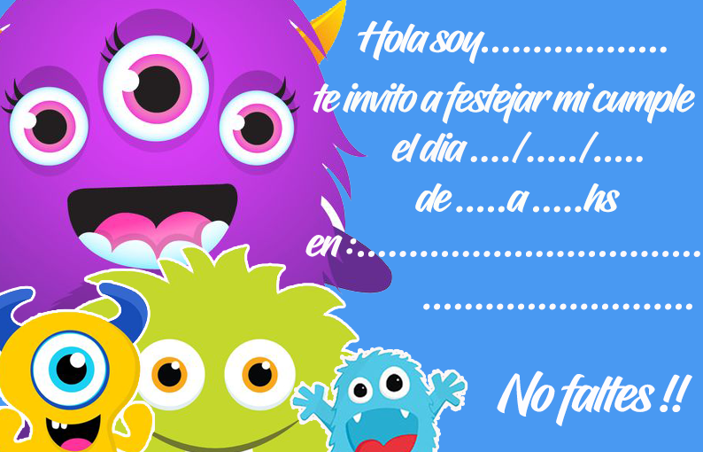 invitacion-tarjetita- candy bar baby monster kit imprimible