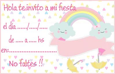 invitacion-tarjetita -candy bar lluvia de amor kit imprimible