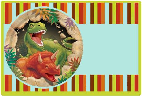 Tita candy bar dinosaurios kit imprimible