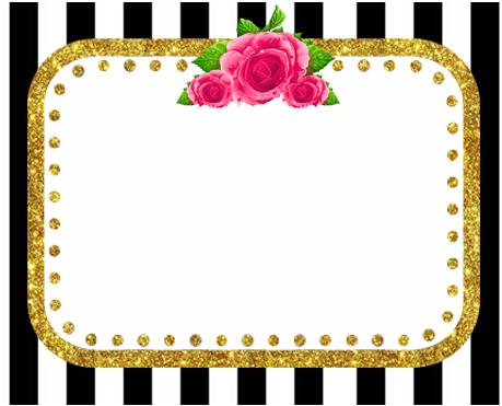alfajores -candy bar rayas y flores kit imprimible