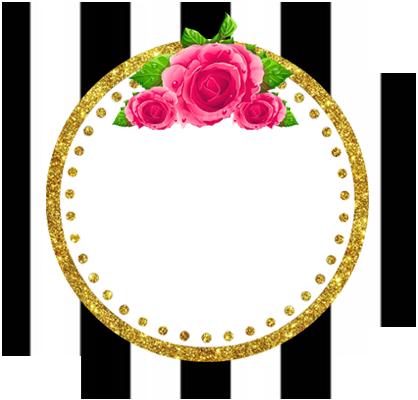 alfajores3 -candy bar rayas y flores kit imprimible
