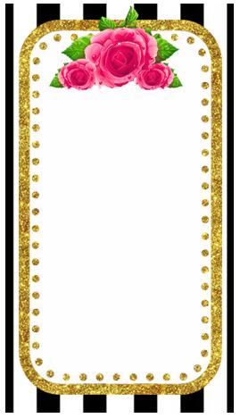 baggio mini -candy bar rayas y flores kit imprimible