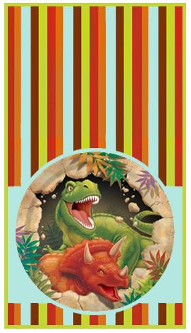 mini baggio candy bar dinosaurios kit imprimible