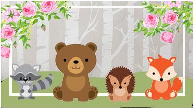 chocolatin pequeño-candy-bar animalitos de la selva kit-imprimible