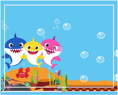 alfajores -candy-bar baby shark kit-imprimible