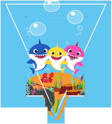 paraguita -candy-bar baby shark kit-imprimible