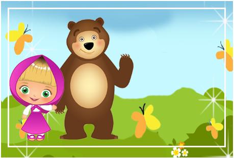 Tita candy bar masha y el oso tiernos kit imprimible