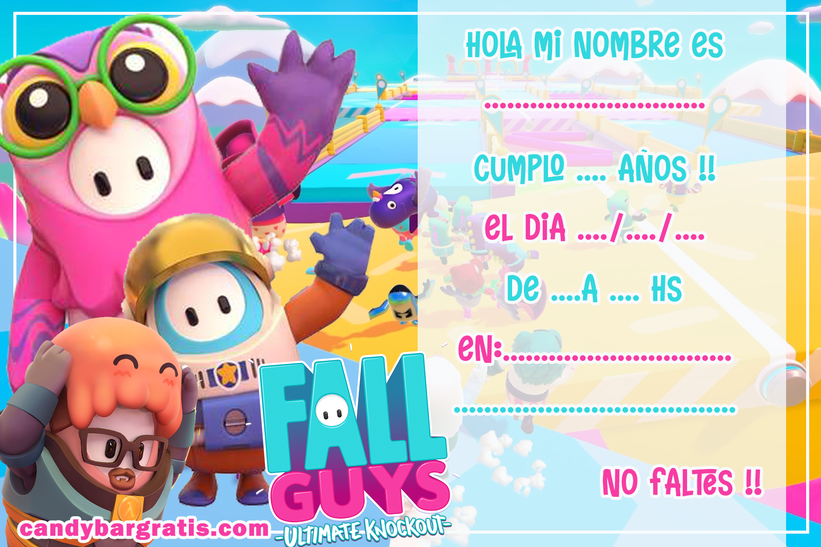 invitacion-tarjetita-candy-bar-FALL-GUYS-kit-imprimible