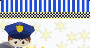 alfajores-candy bar POLICIA TIERNO kit imprimible