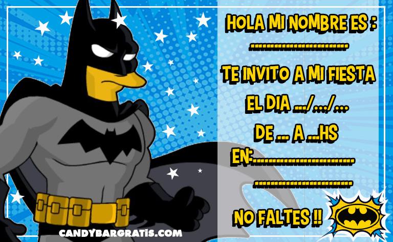 invitacion-tarjetita-candy bar BATMAN ANIMADO kit imprimible