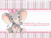 alfajores-candy bar ELEFANTITA GRIS Y ROSA BABY SHOWER kit imprimible
