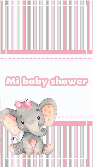 clubsocial-candy bar ELEFANTITA GRIS Y ROSA BABY SHOWER kit imprimible