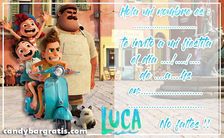 invitacion-tarjetita-candy bar LUCA PIXAR kit imprimible