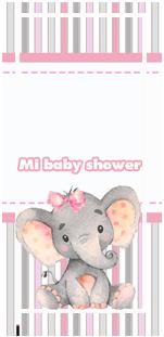 picodulce-candy bar ELEFANTITA GRIS Y ROSA BABY SHOWER kit imprimible