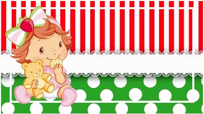 chocolatin pequeño-candy bar FRUTILLITA BEBE kit imprimible